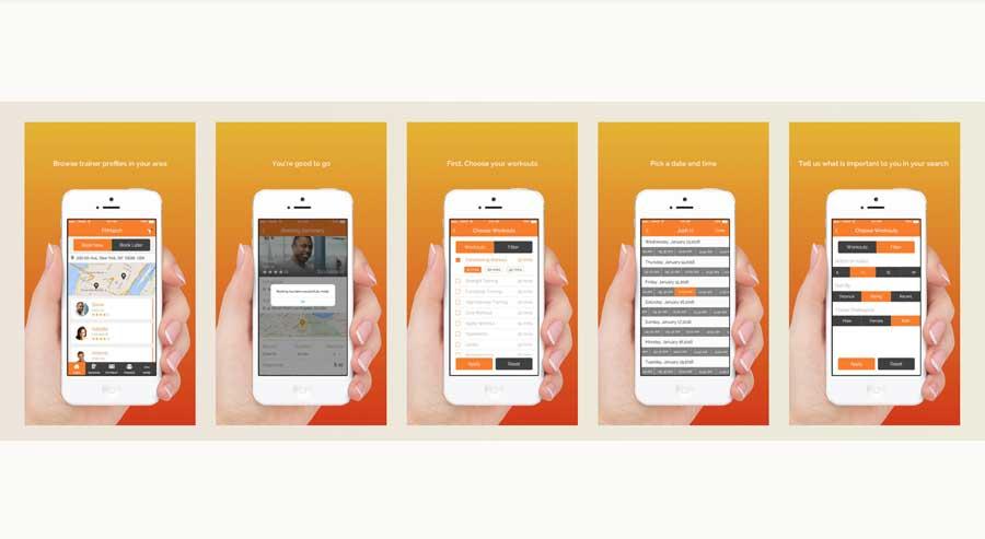 FitMatch - key screens