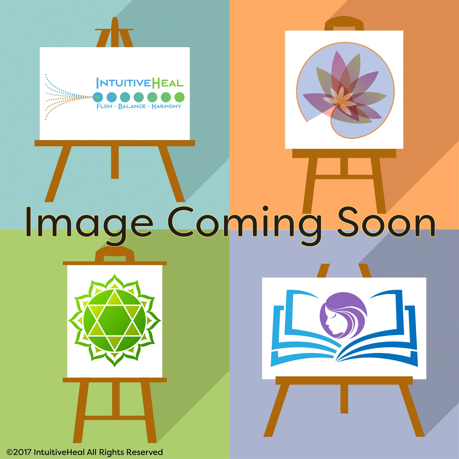 "Image of art on easels and text saying ""Image Coming Soon"""