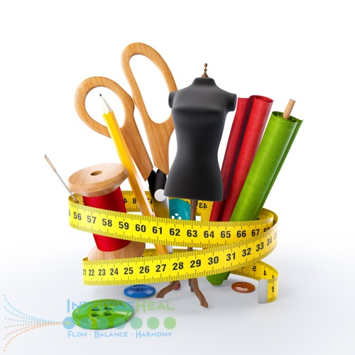 Photo of tailoring tools wrapped with measuring tape