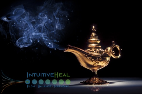 Photo of gold Aladdin lamp with smoke