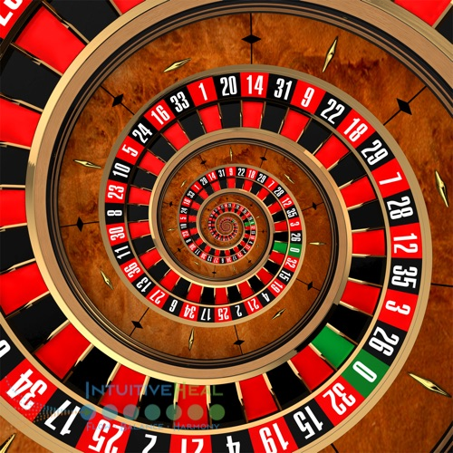 Image of roulette wheel wound into a spiral
