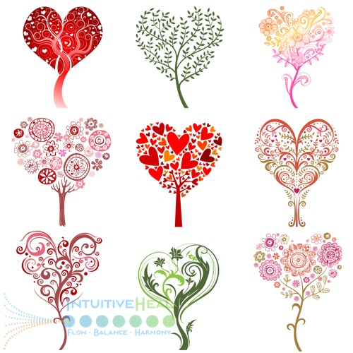 Image of hearts with various artistic designs