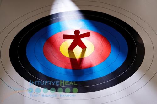 Image of stick figure on a bullseye