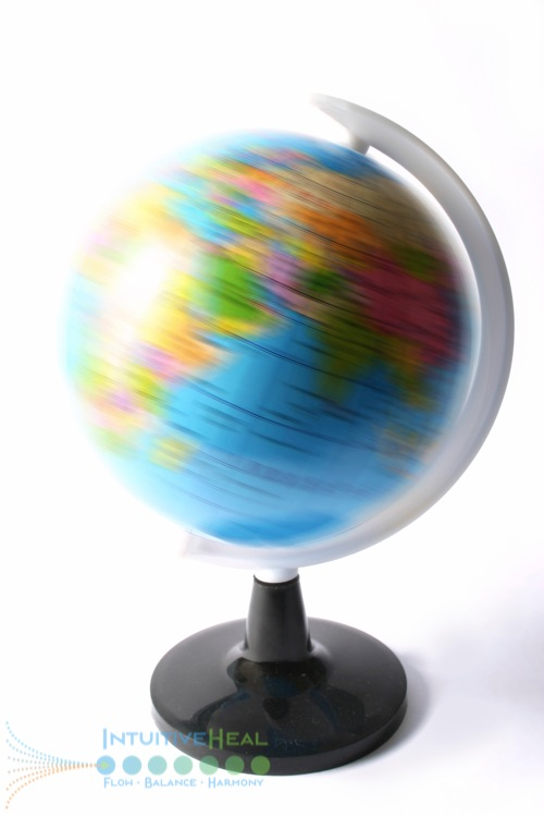 Image of a spinning globe