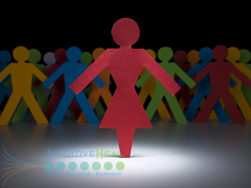Image of colorful paper doll cut-out people