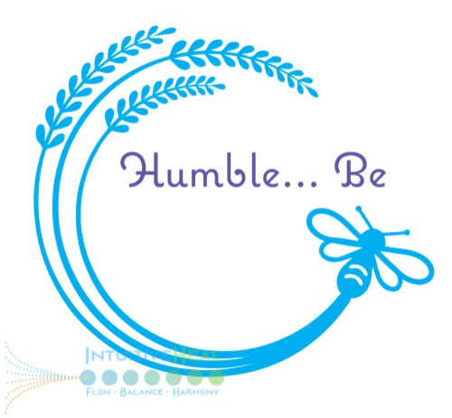 "Image of wheat with bumblebee ""Humble-be"""