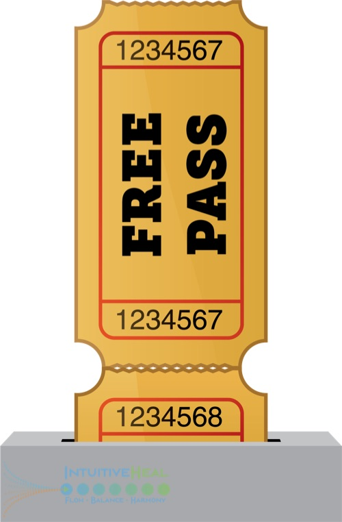 "Image of movie ticket stub that says ""Free Pass"""