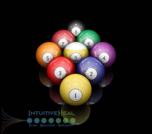Photo of pool cue balls with numbers on them