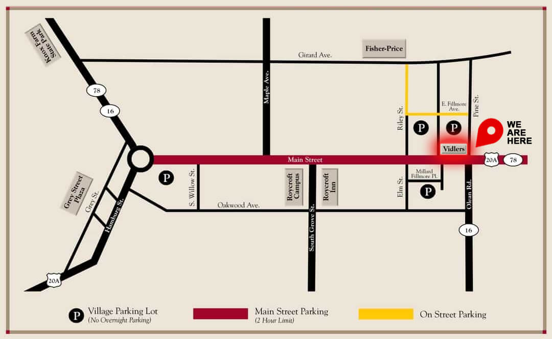 Vidlers Parking Map