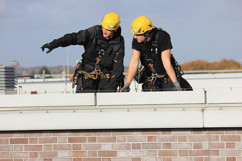 Kletterteam Hamburg |Seilgestützte Höhenarbeit |Fassadensanierung |Inspektion |Reparatur