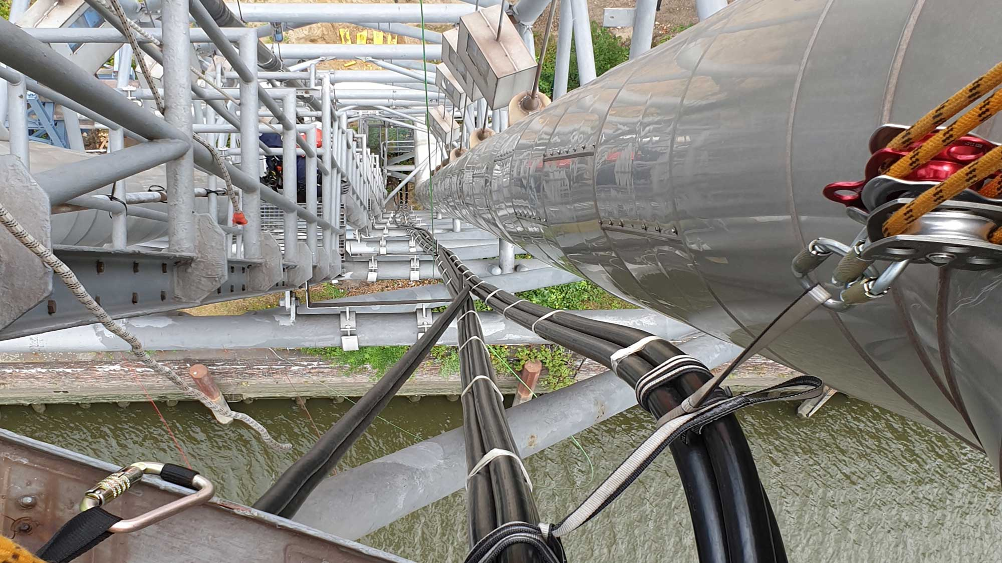 Fassadensanierung durch Industriekletterer in Hamburg, Kletterteam