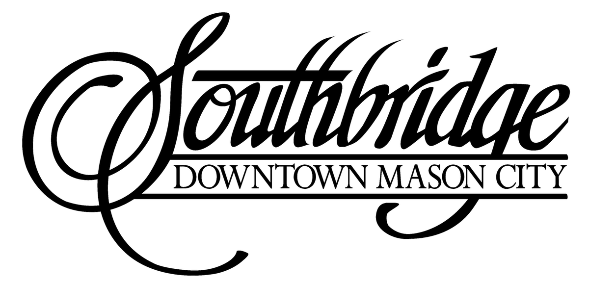 black Southbridge mall logo with link to homepage