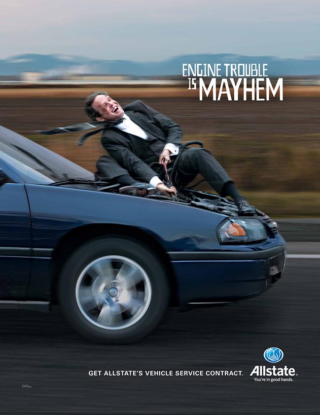 Allstate Dealer Services Mayhem Campaign