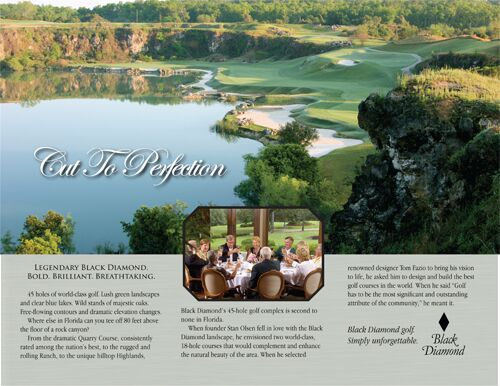 black diamond golf resort brochure