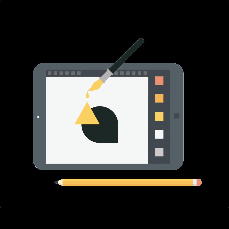 art graphic on an ipad icon