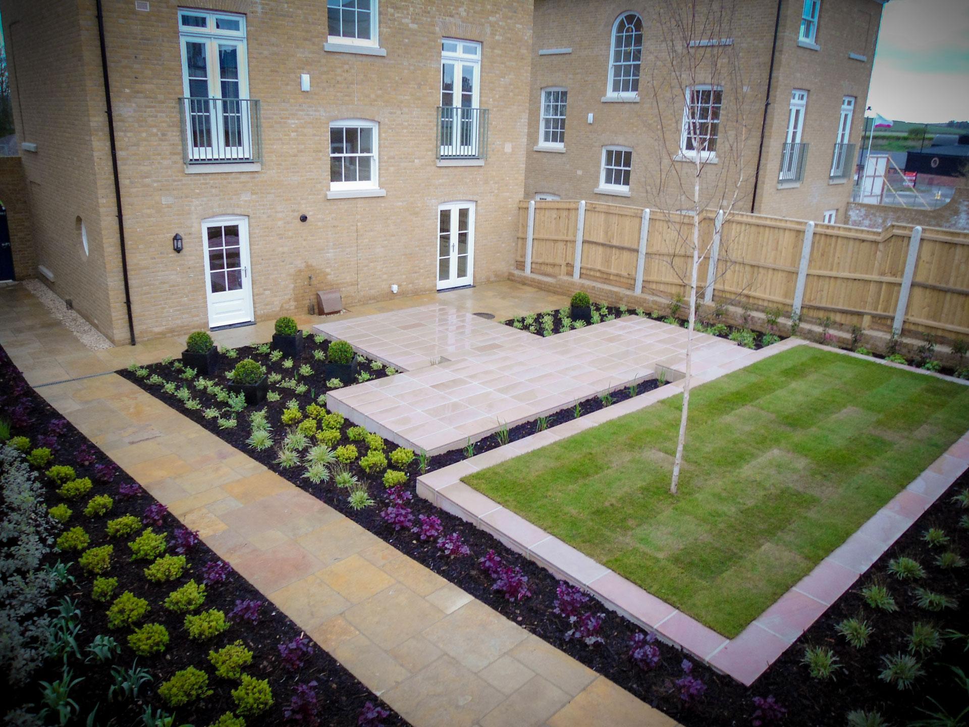 Modern show garden