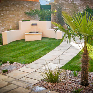 Sloped Water Feature