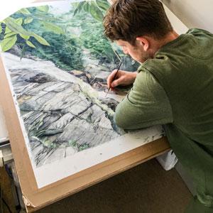 Tom Painting Jungle