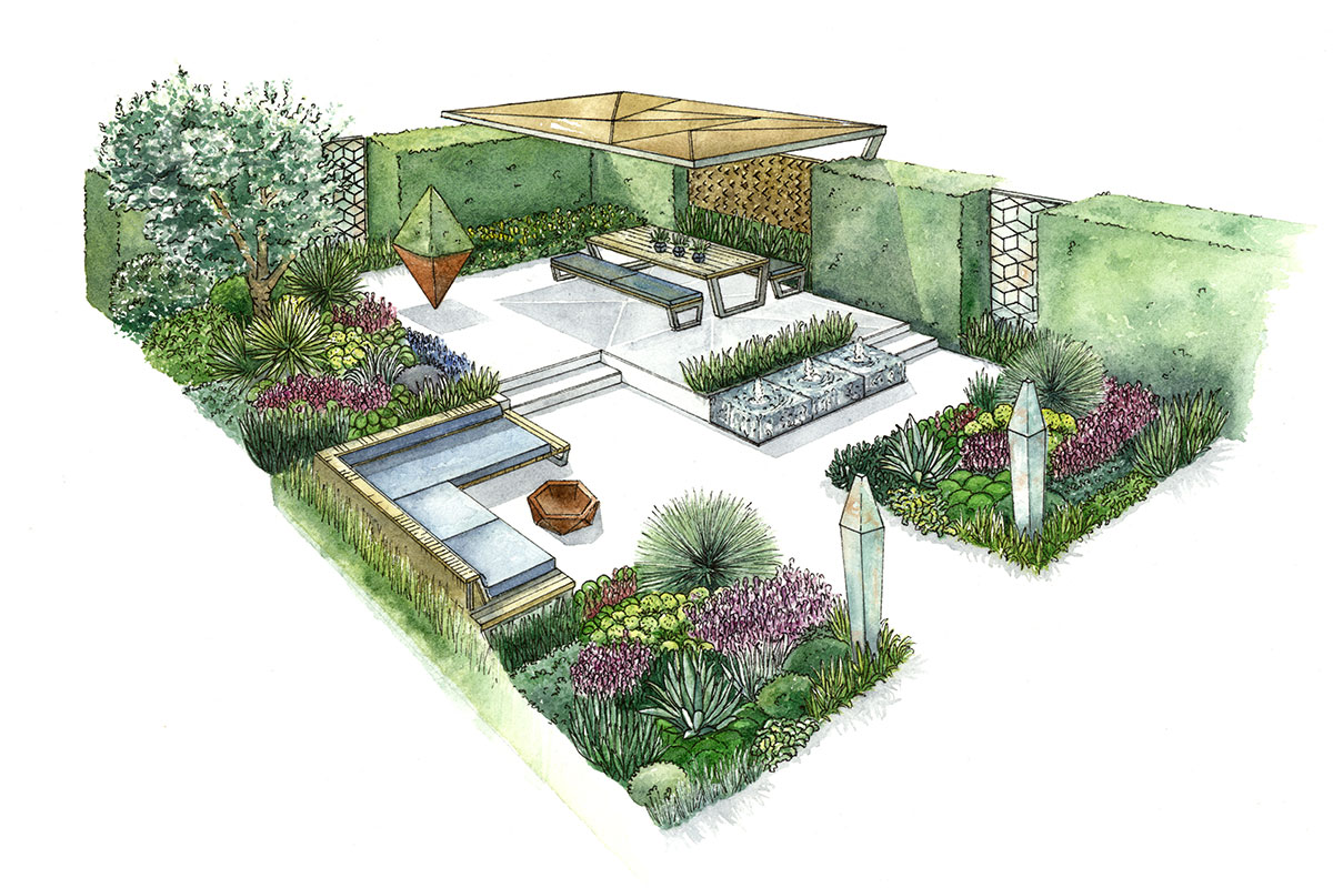 Garden Design in Bournemouth, Poole and Dorset | Tom Hill on brighton house plan, garden cottage southern living house plans, garden view cottage house plan,