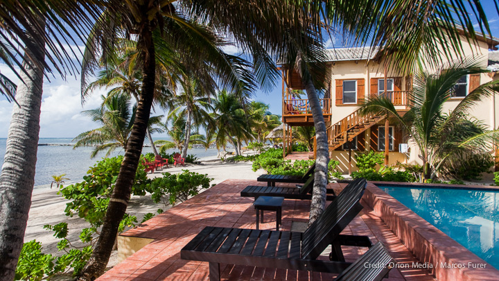 Our private beachfront  villas on Ambergris Caye