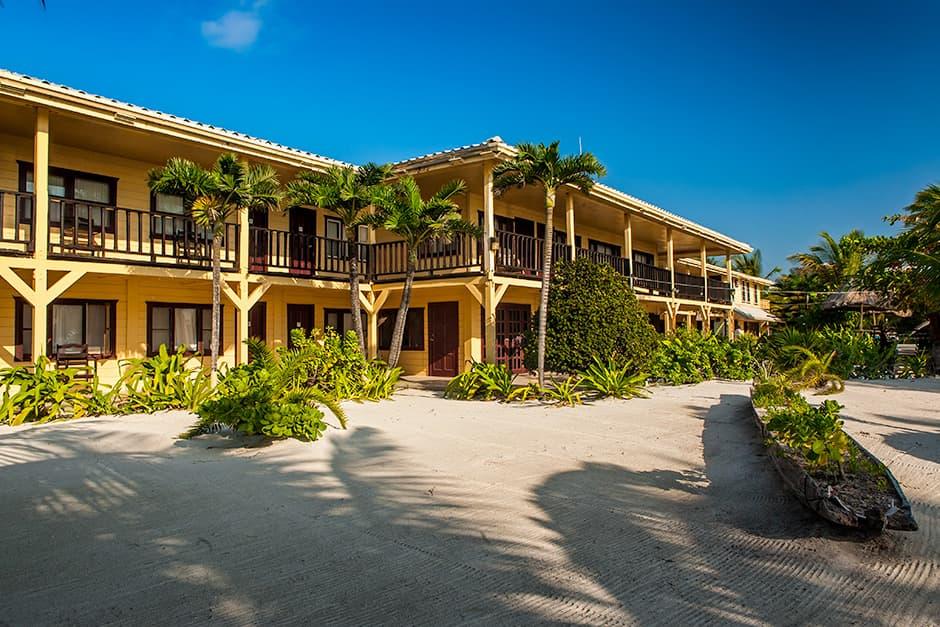 Photo of El Pescador's beachfront Belize lodge