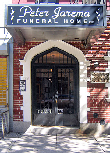 The entrance to Peter Jarema Funeral Home