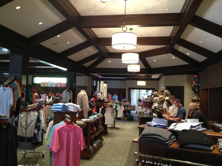 inside Grey Oaks golf shop