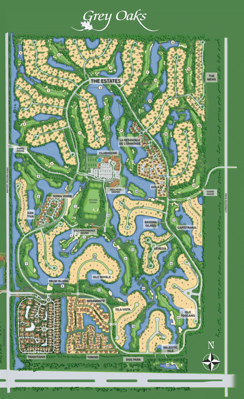 Grey Oaks site plan