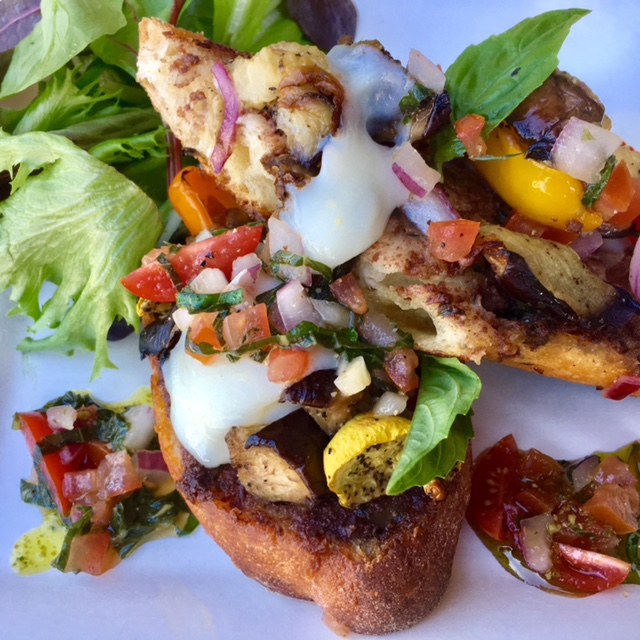 Roasted Vegetable Tartine
