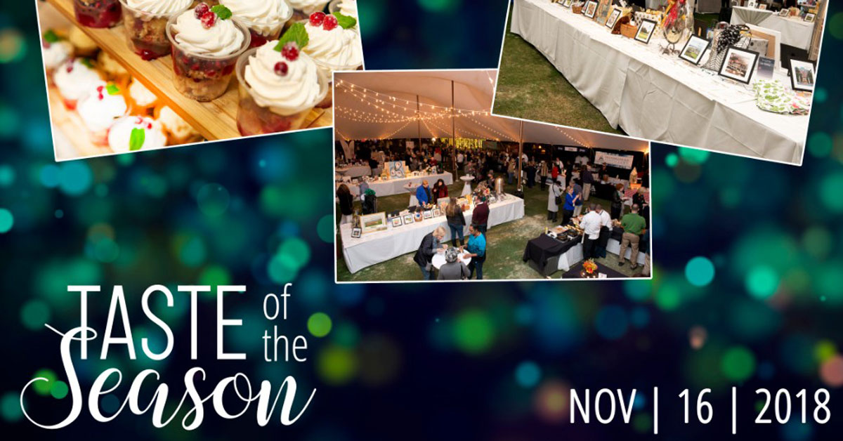 Taste of the Season Event Friday November 16th CLICK FOR DETAILS AND TICKETS