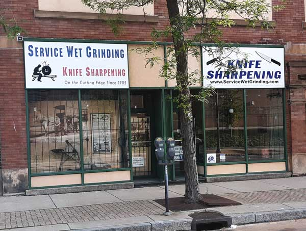 service wet grinding knife sharpening