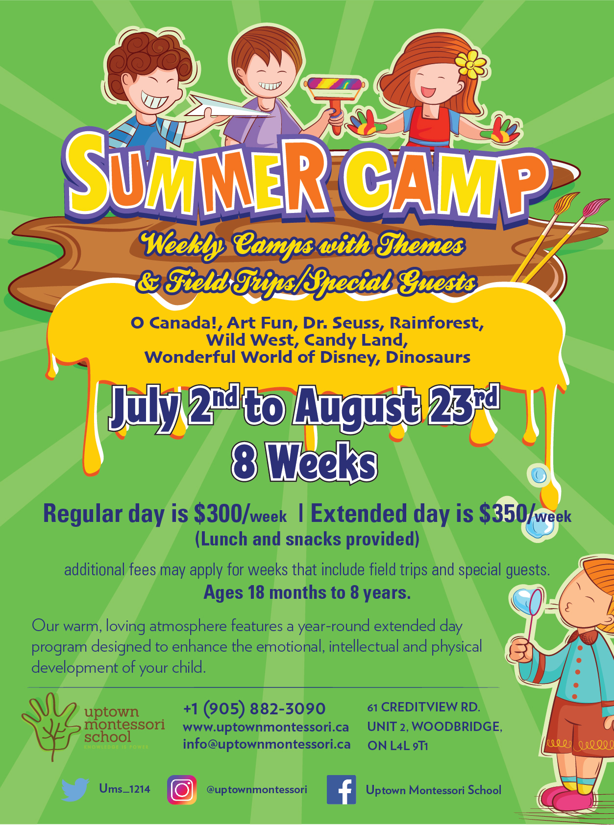 Uptown Montessori School Summer Camp Brochure