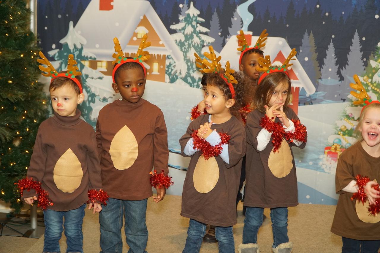 Children dressed as reindeer