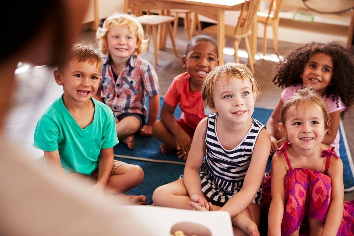 Kids at Montessori School