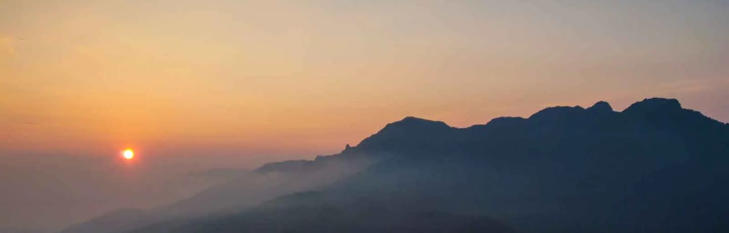 Grandfather mountain sunset at linville ridge