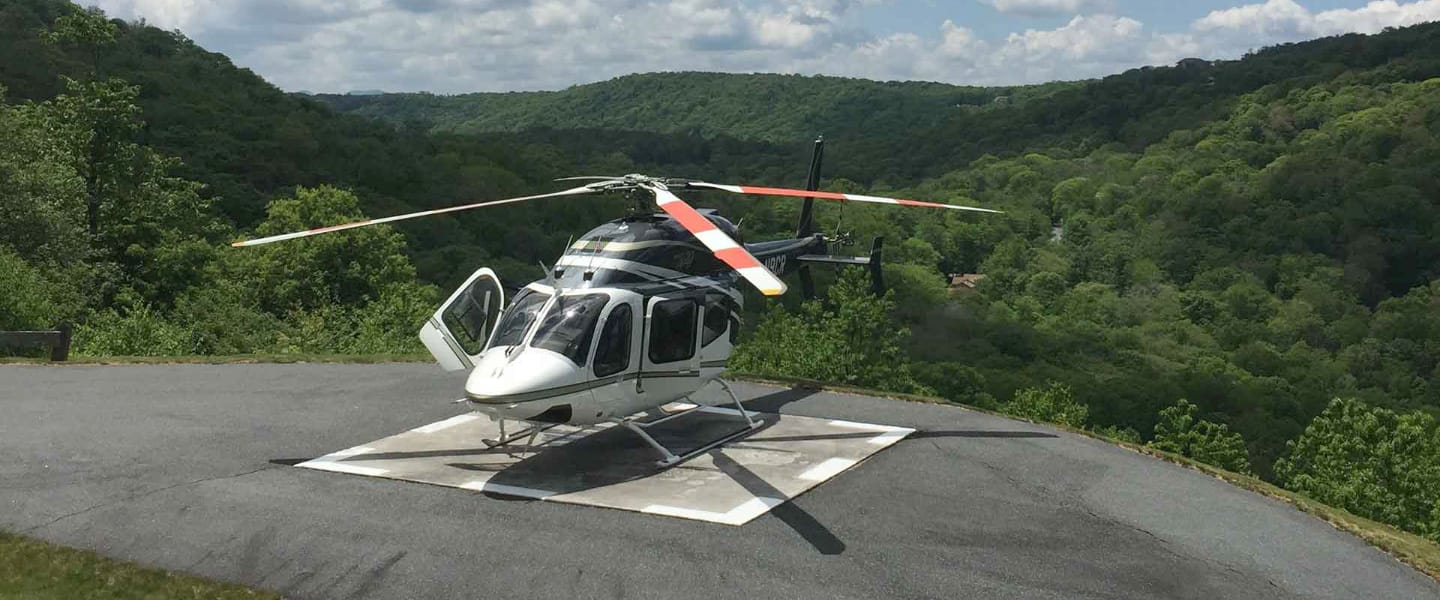 Helipad at Linville Ridge NC