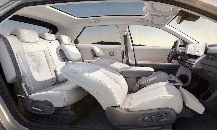 Hyundai ioniq 5 interøir hvitt