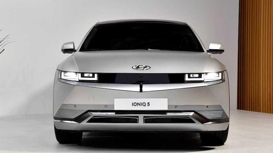 Hyundai Ioniq 5 sølv eksteriør front
