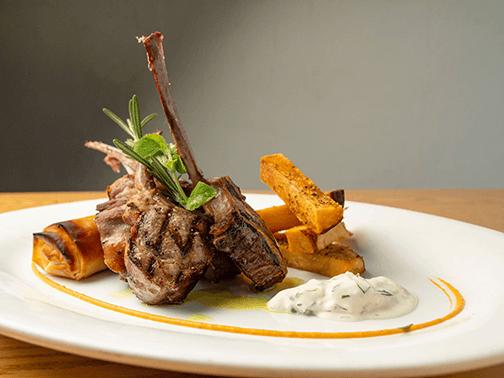 plate of lamb chops