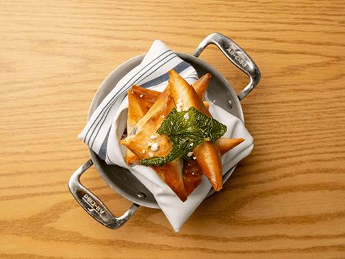 plate of spanakopita