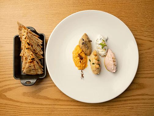 plate of greek food spreads