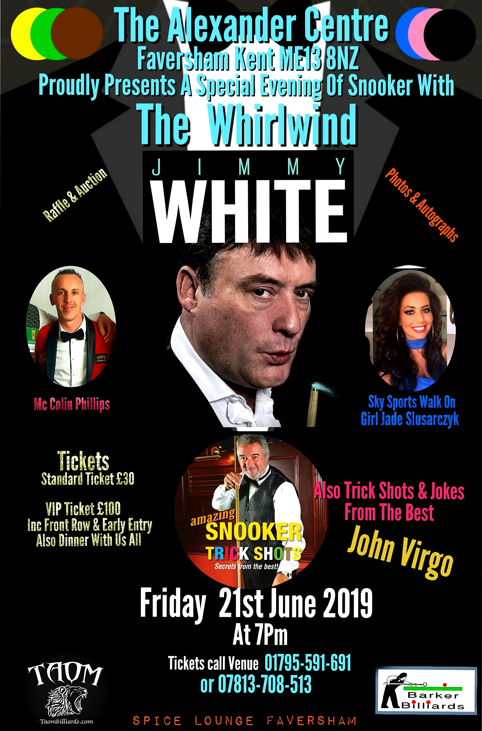A Special Evening of Snooker with The Whirlwind Jimmy White