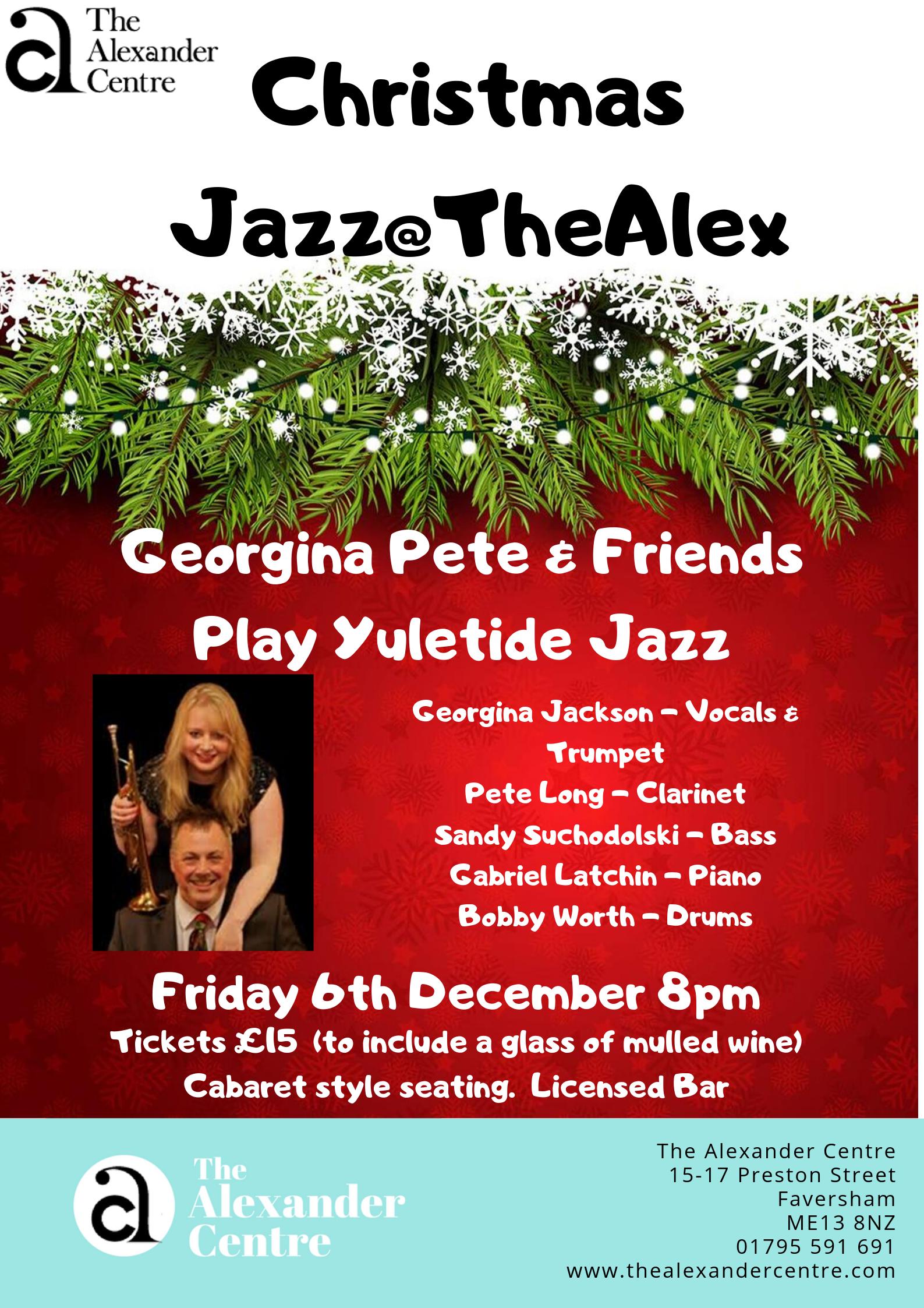 Christmas Jazz@TheAlex - Georgina, Pete & Friends play Yuletide Jazz