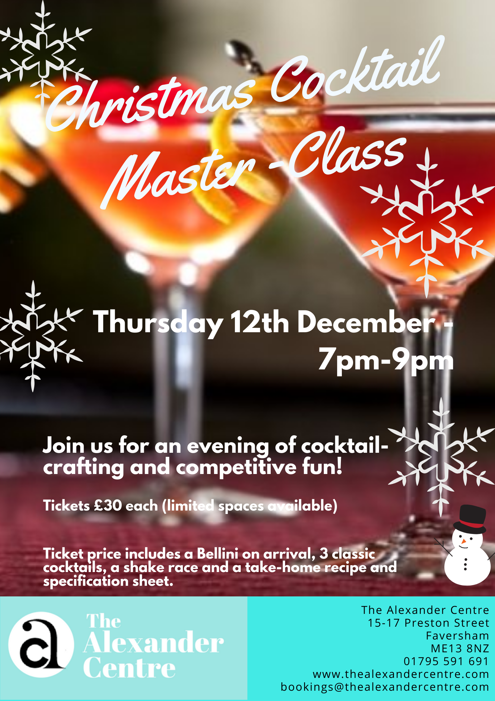 Christmas Cocktail Master-Class