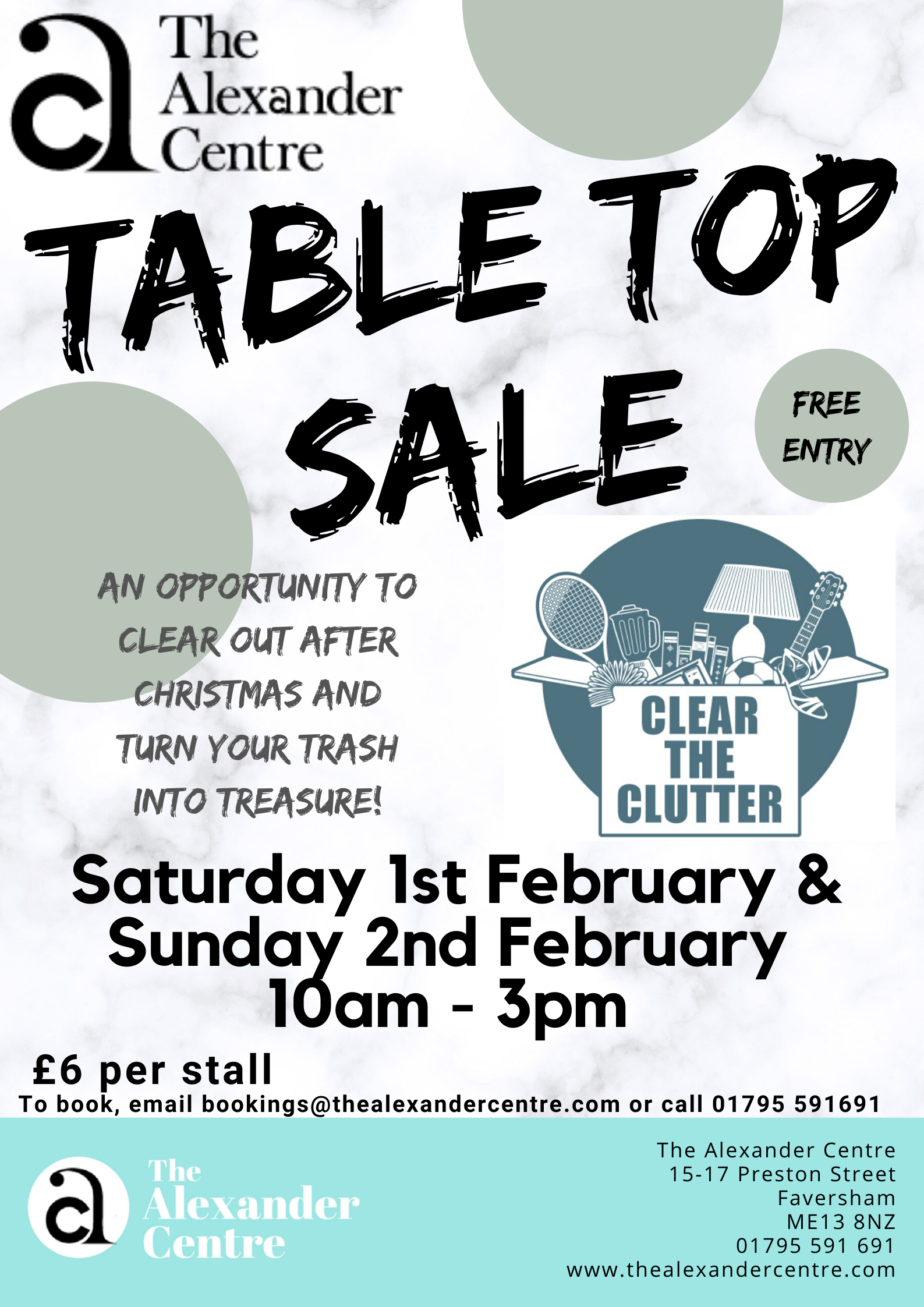 Table-top sale