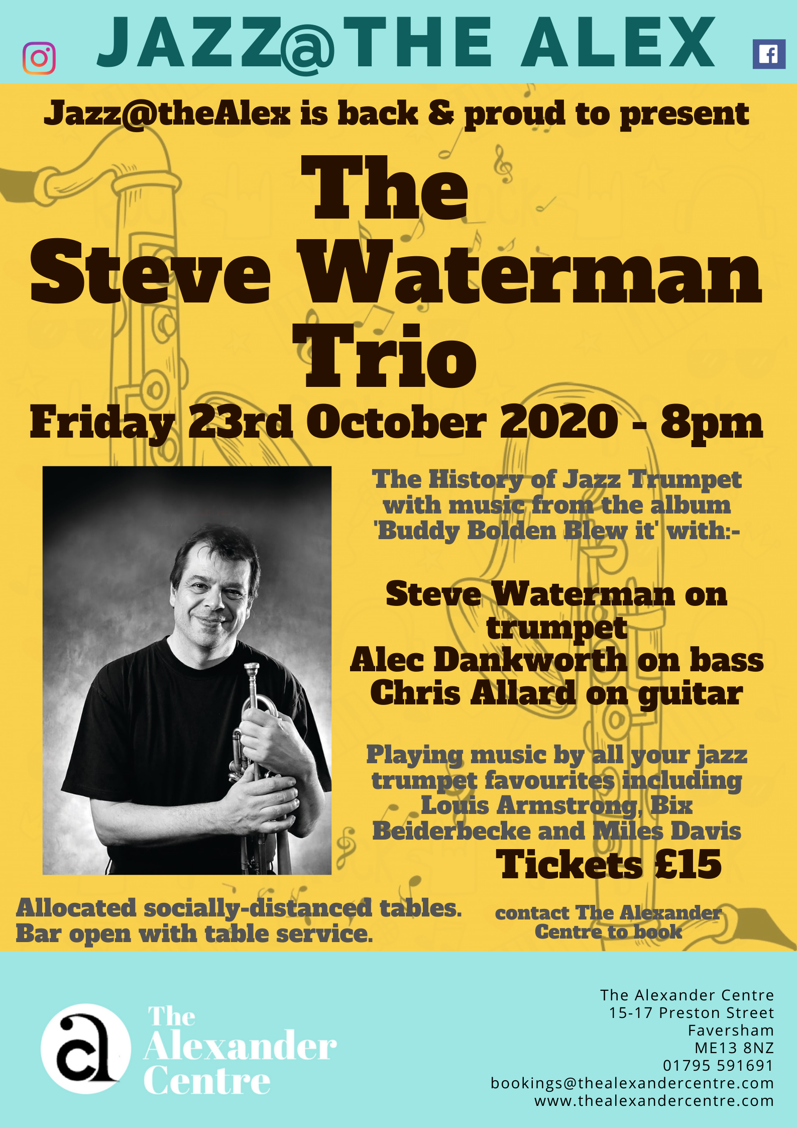 Jazz@theAlex: Steve Waterman Trio