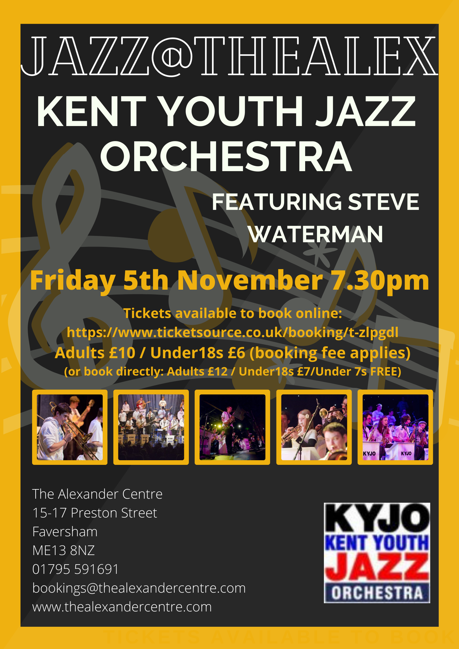 Jazz@TheAlex - Kent Youth Jazz Orchestra with Steve Waterman