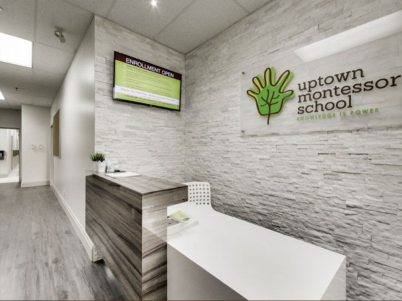 Reception Desk at Uptown Montessori School