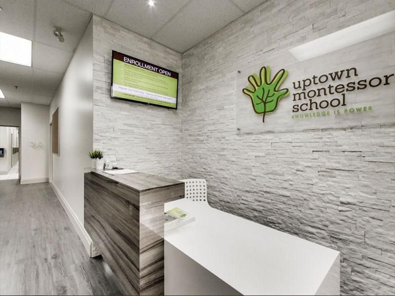 Reception Desk at Uptown Montessori School