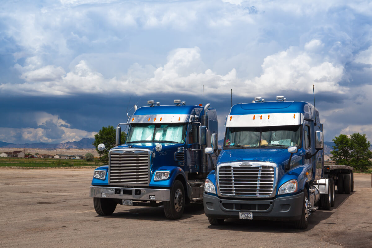 Blue Freightliners